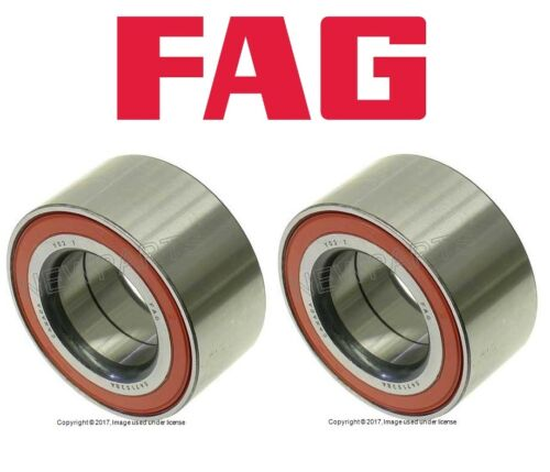 2 FAG Left+Right axle Rear Wheel Bearing Kits w// Seals Ball Roller for Mercedes