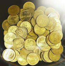 Lot of 50 Israel Coins - 10 Agora - 1960 Old Israeli Coin Agorot Sheqel Sheqalim