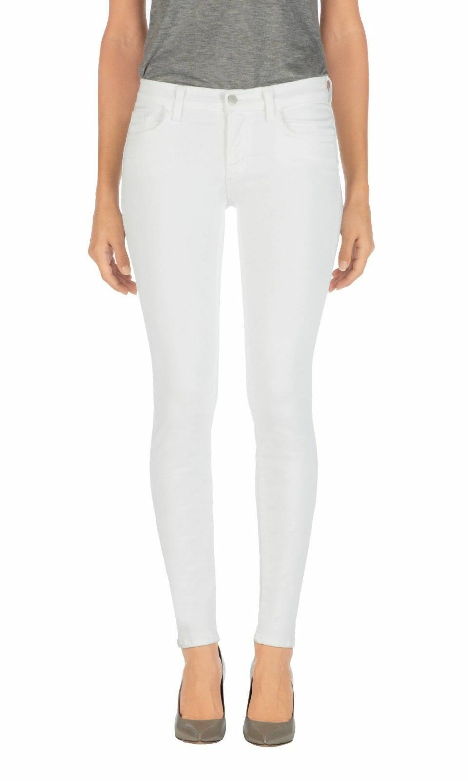 J Brand 811 Mid Rise Skinny white White Jean C028  172 NWT 32