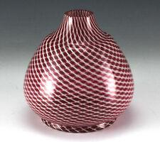 c1900 Continental Hand Blown Glass Vase  geometric design Pontil mark