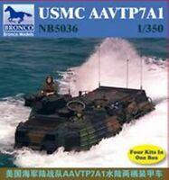 Bronco Models Usmc Aavtp7a1 Amphib 1:350 Scale 4 Kits Snap Models 5036