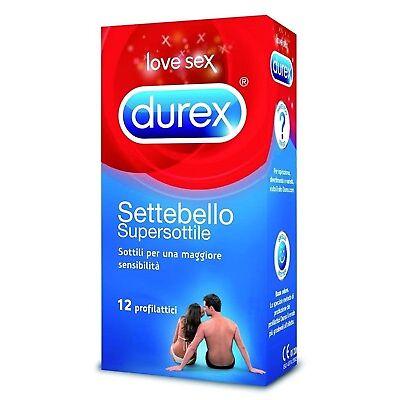 Profilattici Durex Settebello Super Sottile Preservativi Ultra Sottili 12 Pz