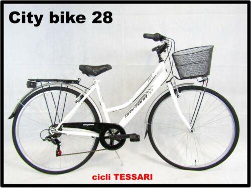 Women/'s Bicycle Bike Mens Walk City Bike For Trekking 28 White 6v