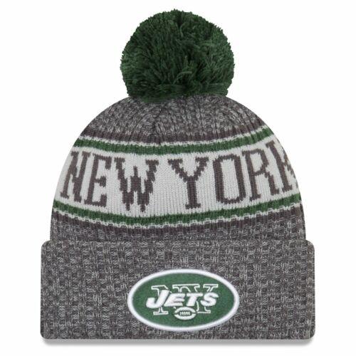 New Era NFL Sideline Graphite Beanie New York Jets