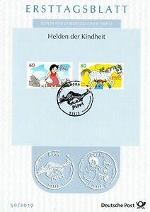 BRD-2019-Heidi-und-Pippi-Langstrumpf-Ersttagsblatt-der-Nr-3506-3507-20-06