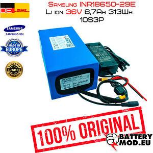 E-Bike Li-Ion Batterie 36 V | 8,30 Ah | 297wh | 10s3p | SAMSUNG inr18650-29e
