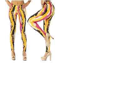 Women's Vertical Blur Tie Die Print Tye Dye Leggings Sz S- L