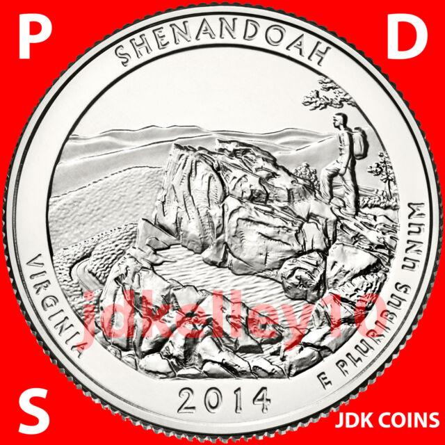2014 P-D-S SET SHENANDOAH NATIONAL PARK - VIRGINIA - QUARTERS UNCIRCULATED US