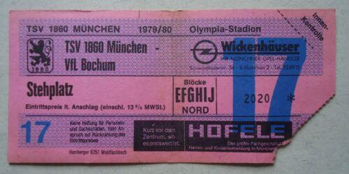 TICKET BL 1979/80 TSV 1860 München Fußball VfL Bochum