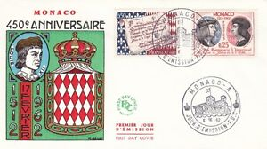 Monaco 1962 450th anniversary of Monaco Set of 2 FDC VGC - Dartford, Kent, United Kingdom - Monaco 1962 450th anniversary of Monaco Set of 2 FDC VGC - Dartford, Kent, United Kingdom