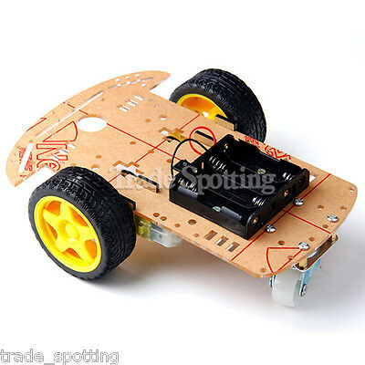 2WD Smart Robot Car Chassis Kit/Speed Encoder Battery Box Arduino 2 Motor 1:48 W