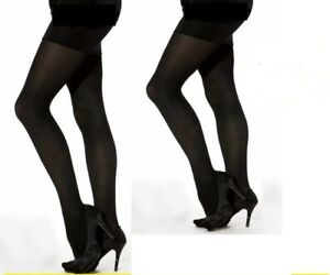 Cindy 70 denier opaque winter Black nylon tights Size Extra Large