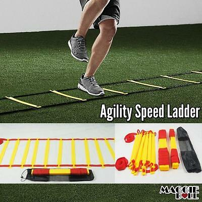 NEW AGILITY LADDER SPEED SPORT TRAINING SOCCER FITNESS BOXING Carry BAG