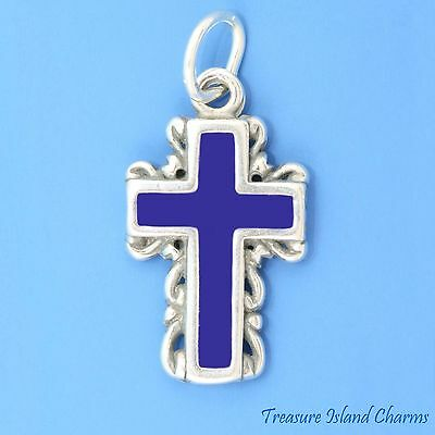 Sterling Silver Enameled Maltese Charm