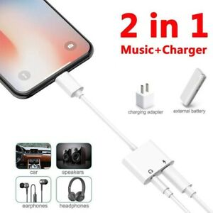 kopfh rer audio adapter kabel aux jack 2 in 1 f r iphone 7 plus 3 5mm xkj ebay. Black Bedroom Furniture Sets. Home Design Ideas