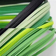 120 strisce quilling medie 5 mm tonalità verde 2