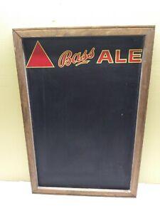 034-BASS-ALE-034-Vintage-Chalk-Board-Man-Cave-Score-Board-w-Wooden-Frame-25-034-17-034-EX
