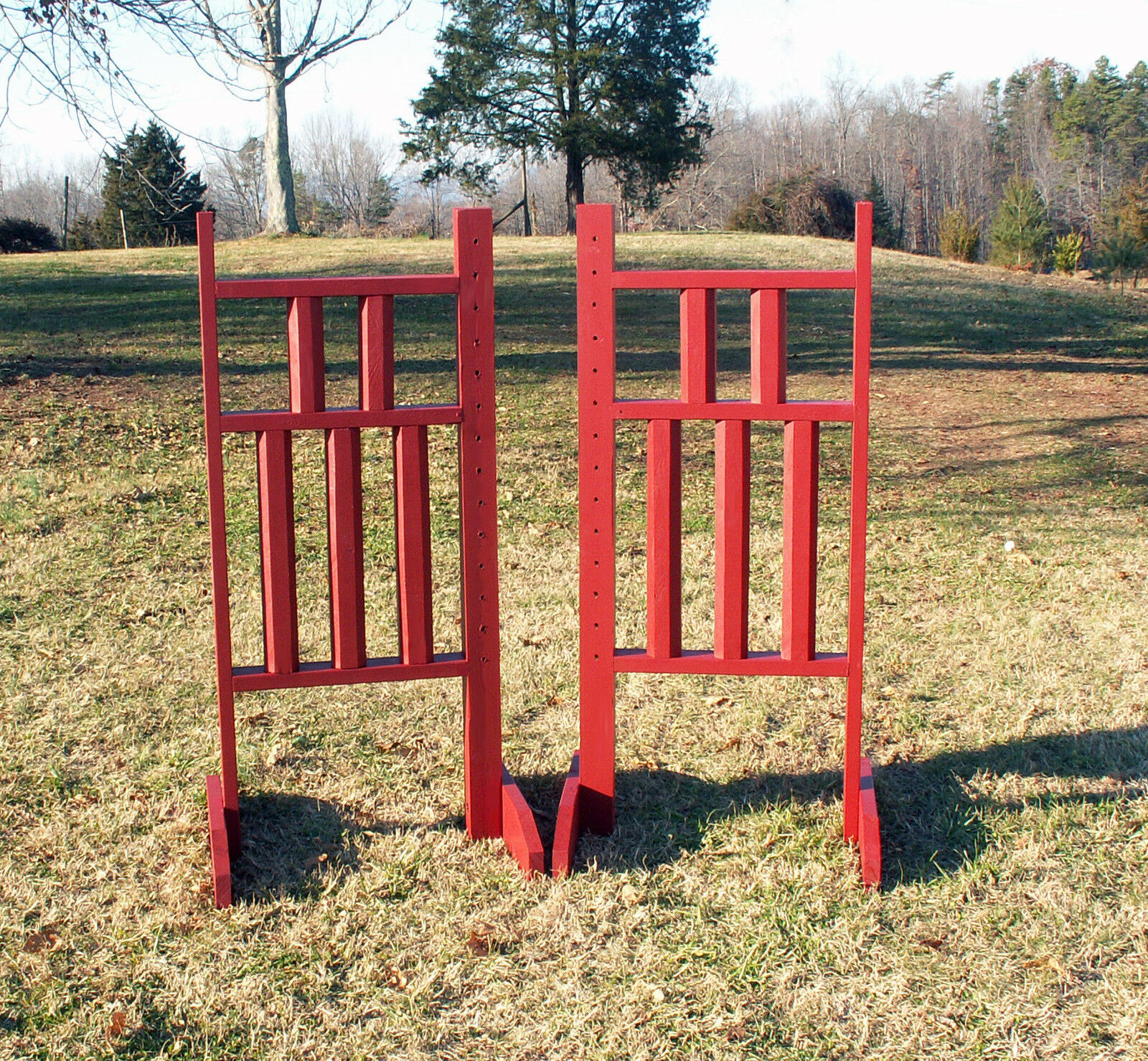 Horse Jumps  5 Column Wooden Wing Standards 5ft Pair - color Choice  we offer various famous brand