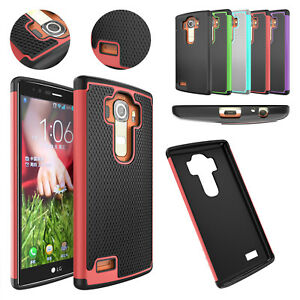 Layer-Hybrid-Dual-Rubber-Case-Cover-Shell-for-LG-G4-H810-H811-LS991-US991-VS986