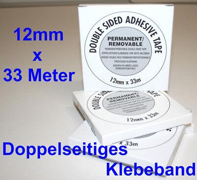 Doppelseitiges Klebeband DS 12 säurefrei 12mmx33m Doppelklebeband Passepartout