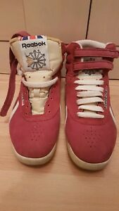 Details about Womens Reebok Classic High Top Burgandy Red Size 4