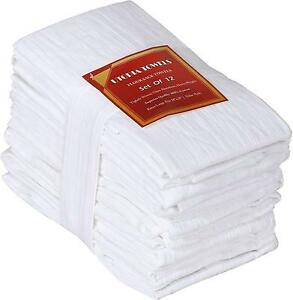 Utopia Kitchen Cotton Absorbe Flour Sack 28 x 28-Inch Towels, 12 Pack