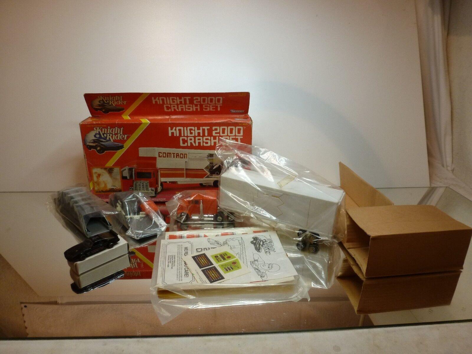 KENNER 66520 KNIGHT 2000 CRASH CRASH CRASH SET - KITT - COMTRON - VERY RARE - GOOD IN BOX a29d4b
