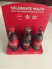 Cultural Coca Cola Malta Limited special edition bottle set of 2 full 2019