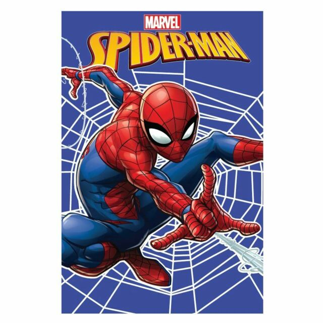 Spiderman Web Fleece Blanket Kids 100% Polyester 100cm x 150cm