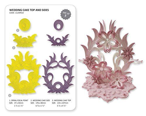 Details about  /JEM 3 Set WEDDING CAKE TOP /& SIDES Icing Cutters Cut Out Sugarcraft Cake Decor