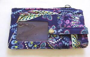 Vera-Bradley-Batik-Leaves-Ultimate-Card-Case-Wallet-quilted-floral-purple-pink