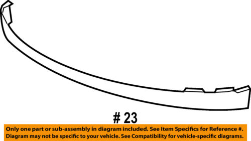 GM OEM FRONT BUMPER-Lower Extension 25821880