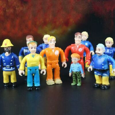 12PCS Fireman Sam Figuren Elvis Steele Dilys Helen Norman Tom Action Spielzeug