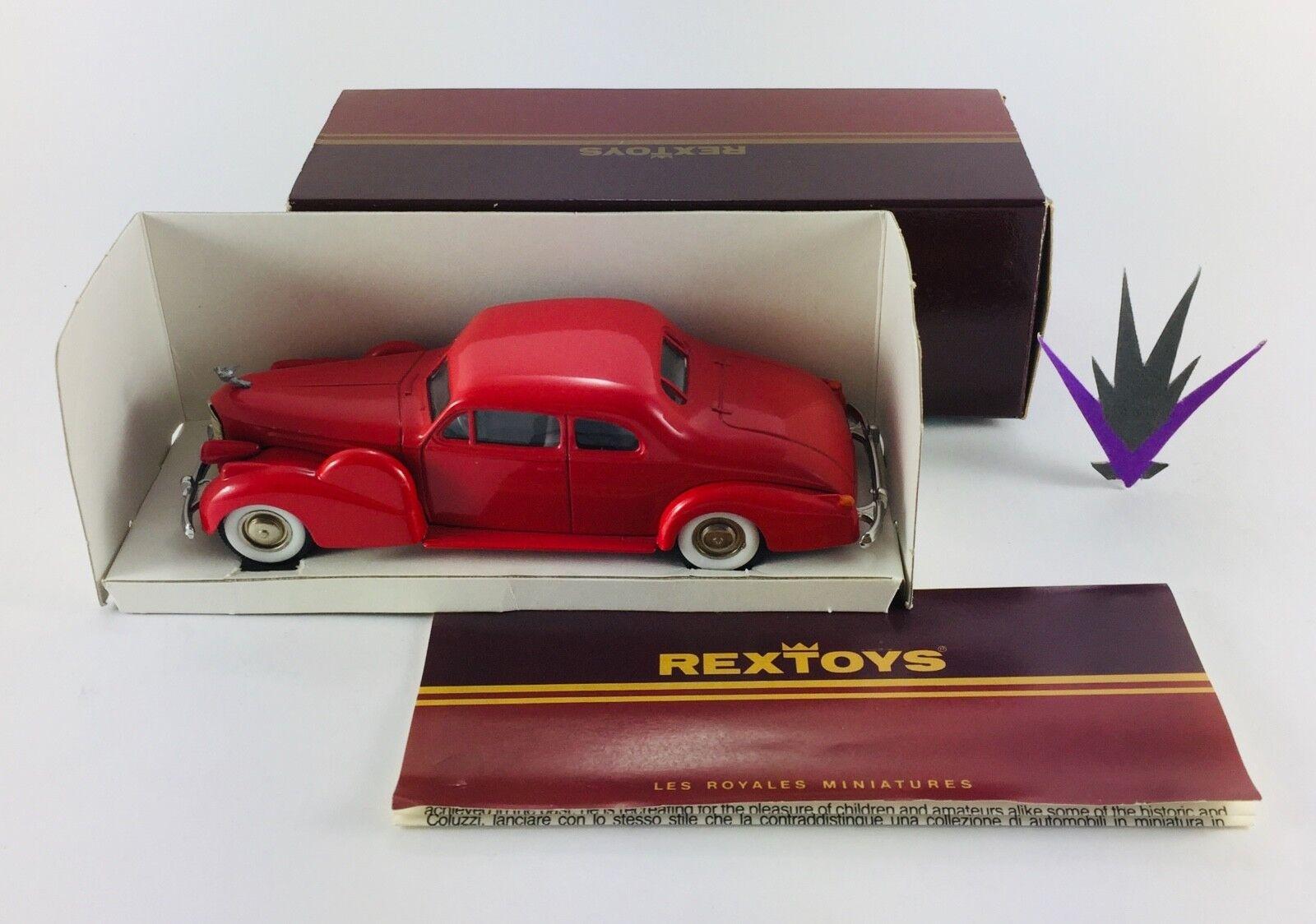 1 43 43 43 Cadillac V 16 1938 coupé 2 portes Rextoys fbf565