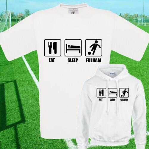 Manger fulham football t shirt//hoodie-enfants adultes haut dormir