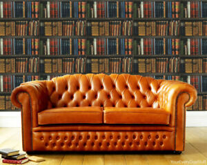 Image Is Loading Bookcase Wallpaper Books Library Vintage Antique Shelves Multicoloured