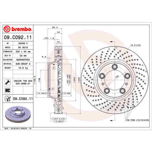 For Porsche 911 Front and Rear Brake Kit Ceramic Pads Sensors Disc Rotors Brembo