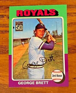 GEORGE BRETT 2001 Topps Through the Years Reprint #30 1975 RC Reprint