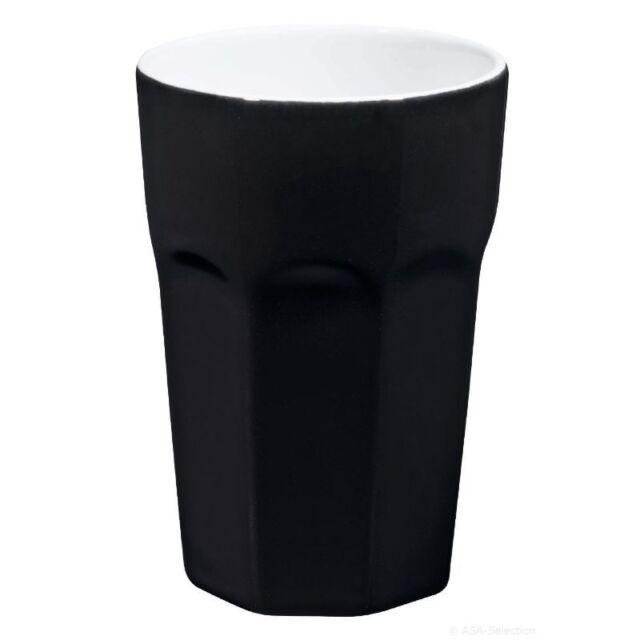 ASA Cafe Latte Becher schwarz ClassicMugs Macchiatto Tasse Becher Kaffeebecher
