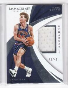 2017-18-Mark-Price-49-Jersey-Panini-Immaculate-Cavaliers