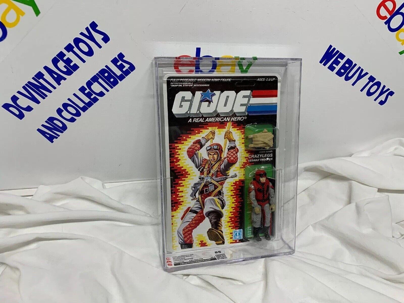 GI Joe CRAZYLEGS 1987 MOC MOSC Hasbro Vintage CAS 85 azione cifra UNPUNCHED