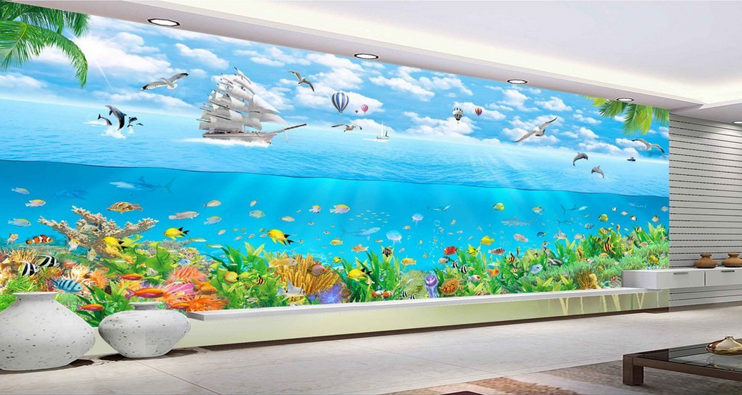 3D Segeln Natürlich 789 Tapete Tapeten Mauer Foto Familie Tapete Wandgemälde DE