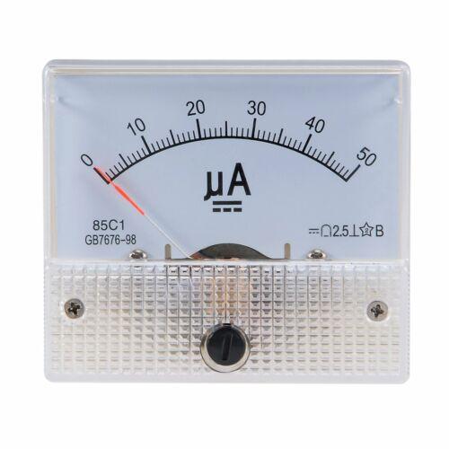 85C1 Analog Current Panel Meter DC 50-500μA Ammeter Circuit Testing Ampere Gauge