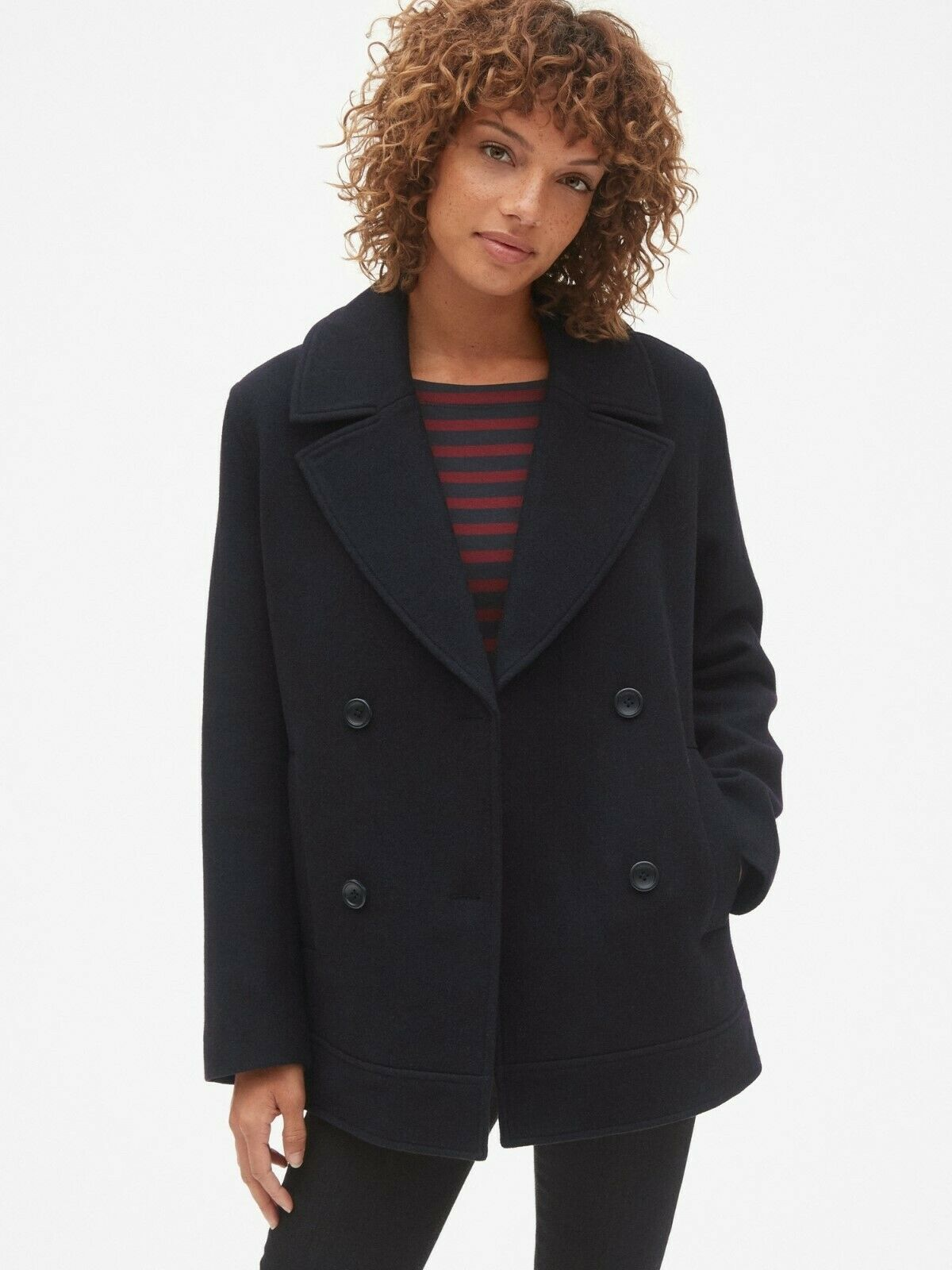 Gap  Classic Peacoat, Sz S Petite Dark Night