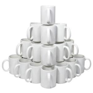 36-Tazze-325ml-in-Ceramica-Bianca-per-Stampa-a-Sublimazione-Con-Scatole-Bianche