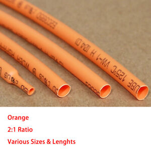 White Heat Shrink 2:1 Tube Car Cable Wire Electrical Tubing Sleeving Sizes/&Lens