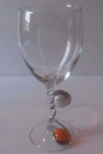 Extra Large Wine Glass With Wrapped Wire And Multi Bead Decoration