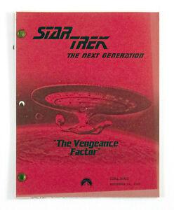 "STAR TREK:TNG ORIGINAL SCRIPT ""The Vengeance Factor,"" Written by Sam Rolfe"