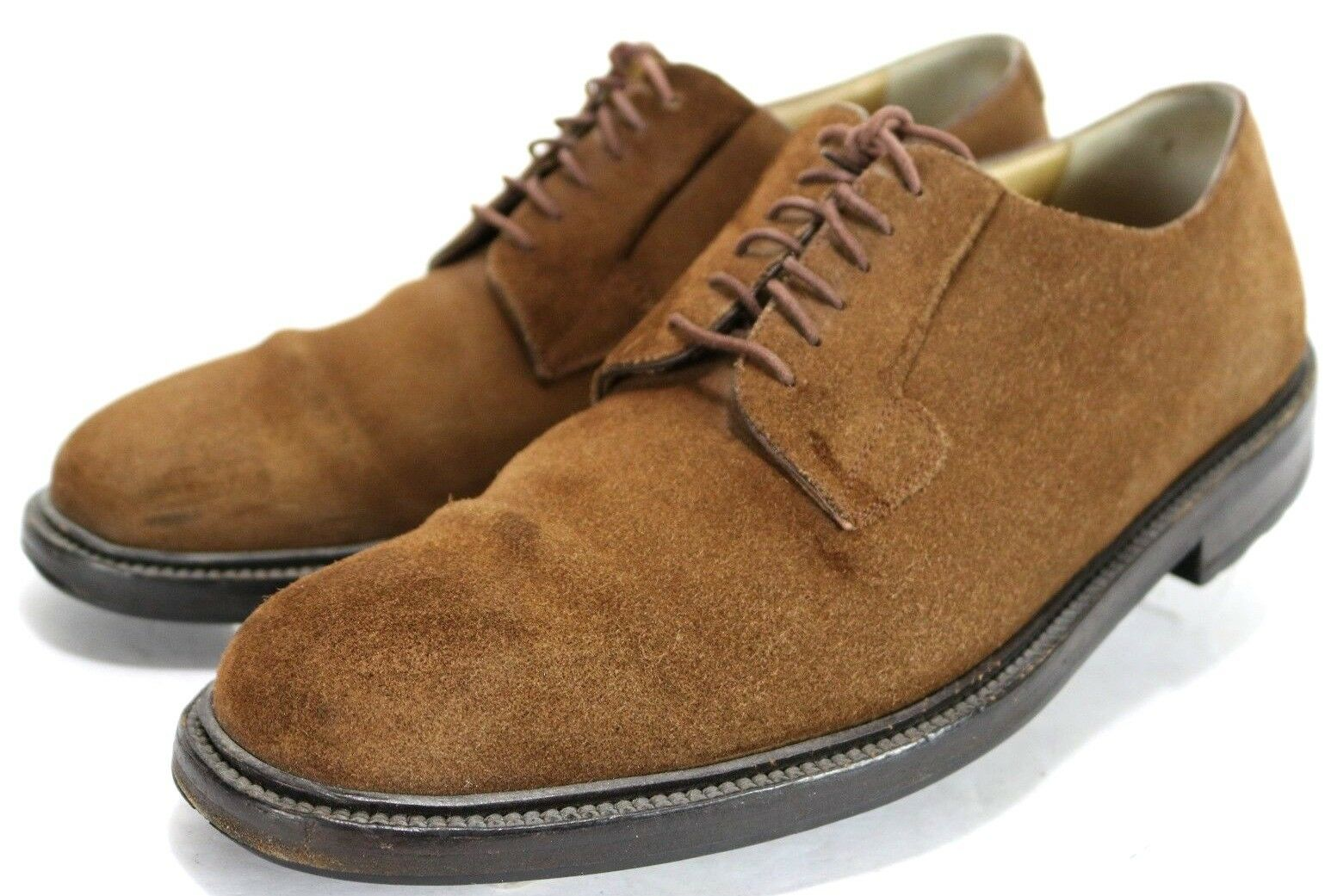 Cole Haan Men's  140 Suede Oxfords shoes Crafted In  Size 9.5 Vibram Brown