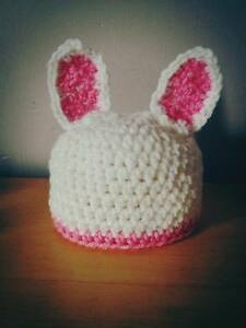Bunny rabbit baby hat cute easter gift newborn photography prop image is loading bunny rabbit baby hat cute easter gift newborn negle Gallery